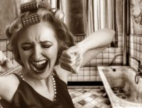 mujer nerviosa neurotica